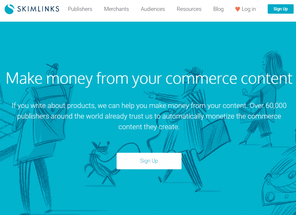 Skimlinks content monetization platform